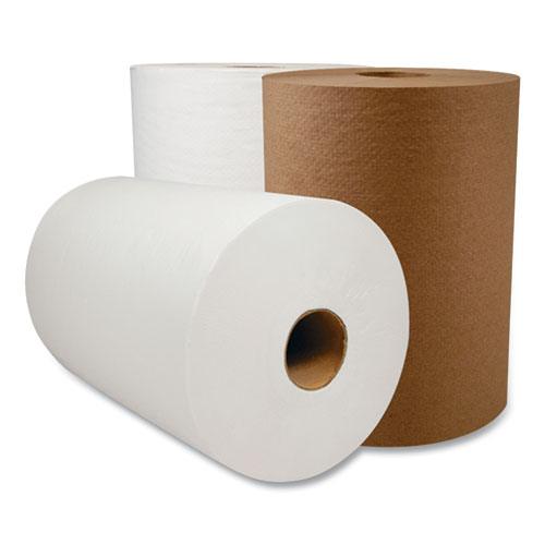 """Morcon Tissue 10 Inch TAD Roll Towels, 1-Ply, 10"""" x 500 ft, White, 6 Rolls/Carton"""
