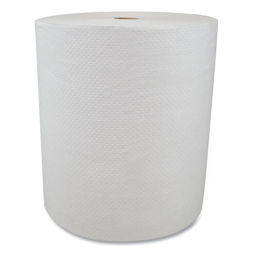 "Morcon Tissue Valay Proprietary Roll Towels, 1-Ply, 8"" x 800 ft, White, 6 Rolls/Carton"