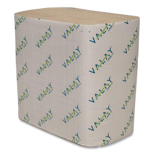 Valay Interfolded Napkins, 2-Ply, 6.5 x 8.25, Kraft, 6,000/Carton