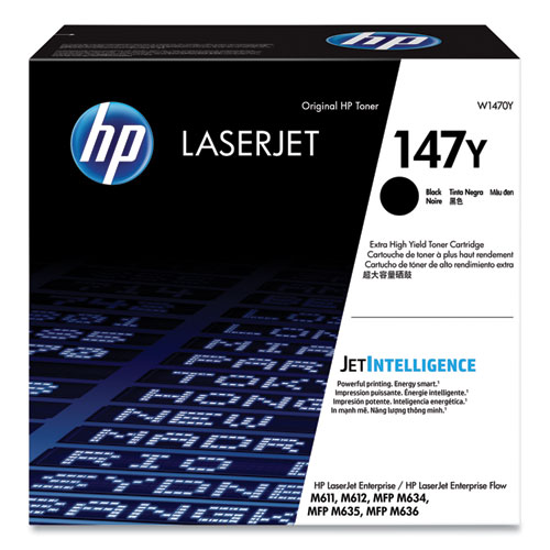 HP 147Y, (W1470Y) Extra High-Yield Black Original Laser Toner Cartridge