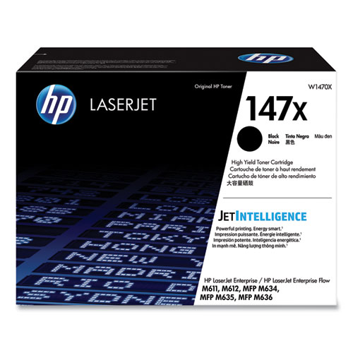 HP 147X, (W1470X) High-Yield Black Original Laser Toner Cartridge
