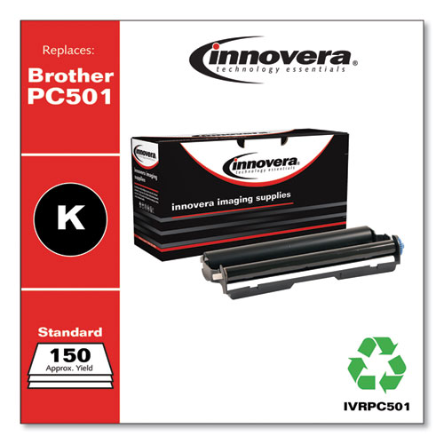 Compatible Black Thermal Transfer Print Cartridge, Replacement for Brother PC501, 150 Page Yield