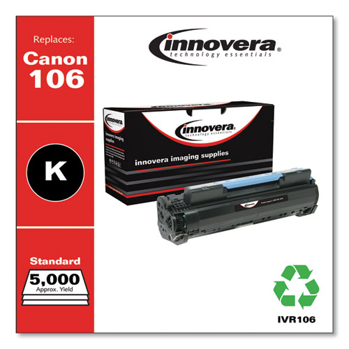 Remanufactured Black Toner, Replacement for Canon 106 (0264B001), 5,000 Page-Yield