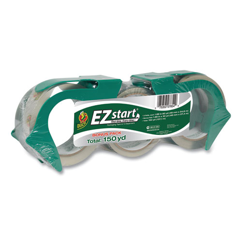 EZ Start Premium Packaging Tape, 3 Core, (2) 1.88 x 60 yds, (1) 1.88 x 30 yds, Clear, 3/Pack