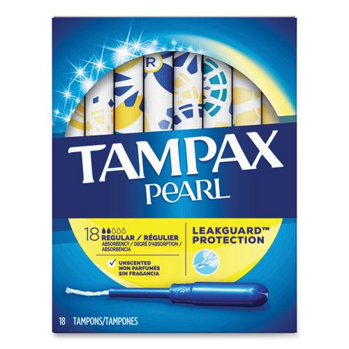 Pearl Tampons, Regular, 18/Box