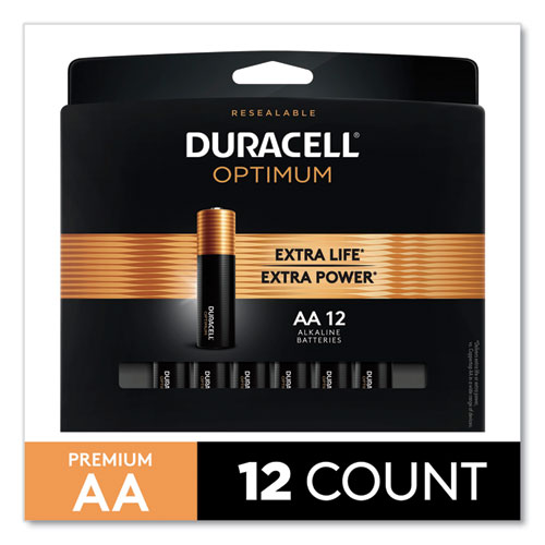 Optimum Alkaline AA Batteries, 12/Pack