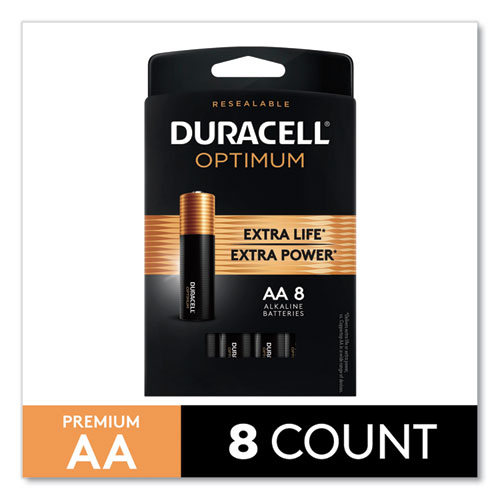 Optimum Alkaline AA Batteries, 8/Pack