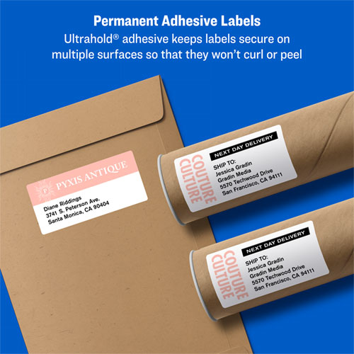 Shipping Labels w/ TrueBlock Technology, Laser Printers, 2 x 4, White, 10/Sheet, 100 Sheets/Box