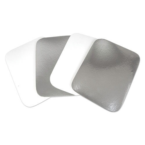 Flat Board Lids for 3 Compartment MOW Foil Container, 500/Carton