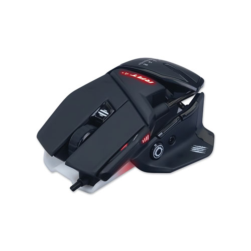 Authentic R.A.T. 4 Optical Gaming Mouse, USB 2.0, Left/Right Hand Use, Black