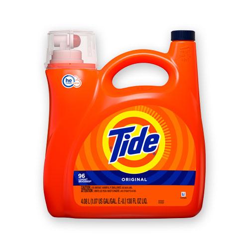HE Laundry Detergent, Original Scent, 96 Loads, 138 oz Pump Bottle, 4/Carton