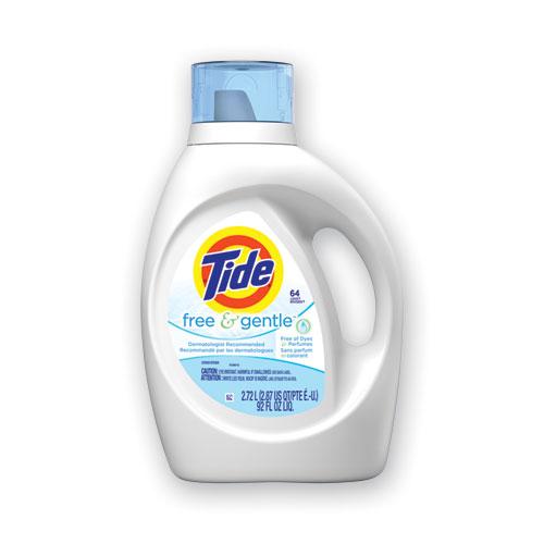 Free and Gentle Liquid Laundry Detergent, 64 Loads, 92 oz Bottle, 4/Carton
