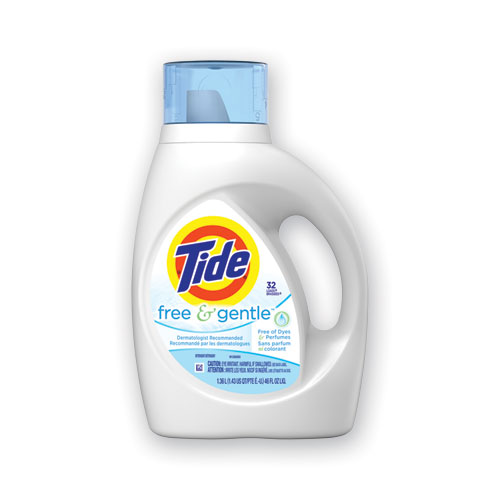 Free and Gentle Laundry Detergent, 32 Loads, 46 oz Bottle, 6/Carton