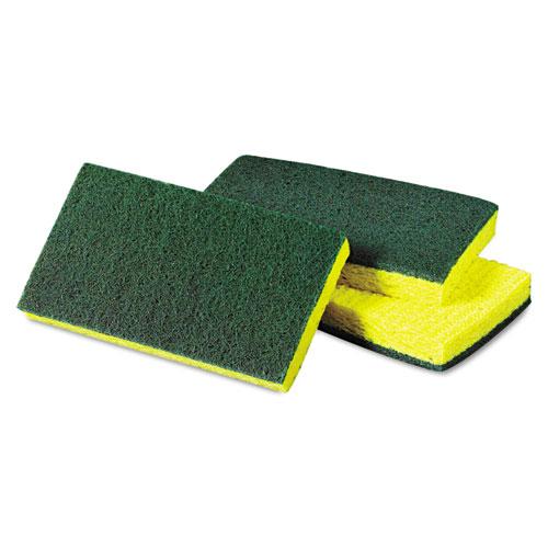 Scotch-Brite™ PROFESSIONAL Medium-Duty Scrubbing Sponge, 3 1/2 x 6 1/4, Yellow/Green, 20/Carton