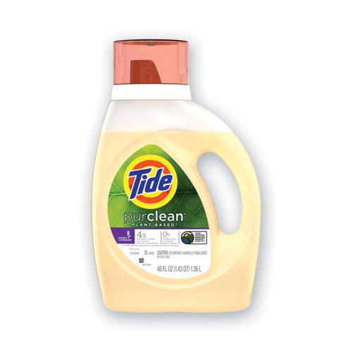PurClean Liquid Laundry Detergent, Honey Lavender, 32 Loads, 46 oz Bottle, 6/Carton
