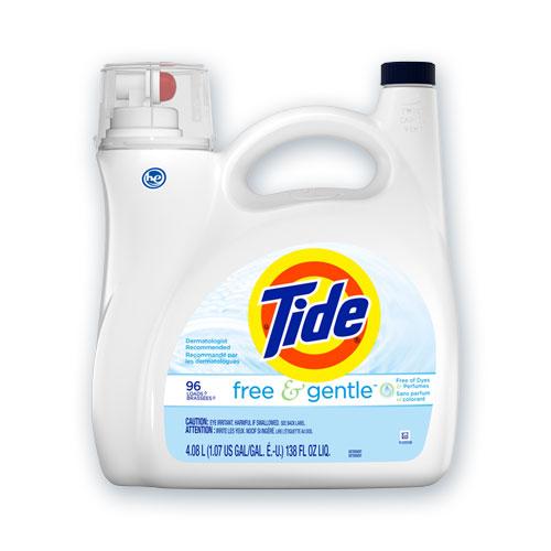 Free and Gentle Liquid Laundry Detergent, 96 Loads, 138 oz Pump Bottle, 4/Carton