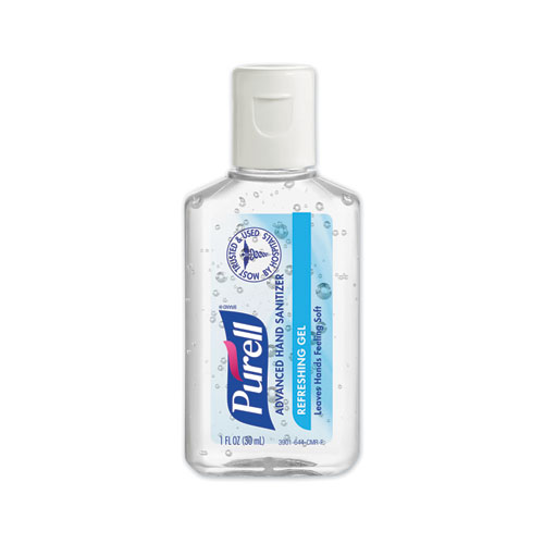 PURELL® Advanced Gel Hand Sanitizer, 1 oz Flip Cap Bottle, Clean, 72/Carton