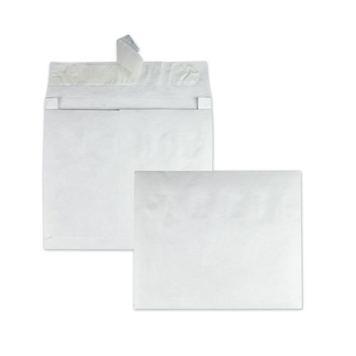 Open Side Expansion Mailers, DuPont Tyvek, 15, Cheese Blade Flap, Redi-Strip Closure, 10 x 15, White, 100/Carton