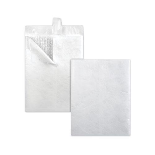 Bubble Mailer of DuPont Tyvek, 2E, Air Cushion Lining, Redi-Strip Closure, 9 x 12, White, 25/Box