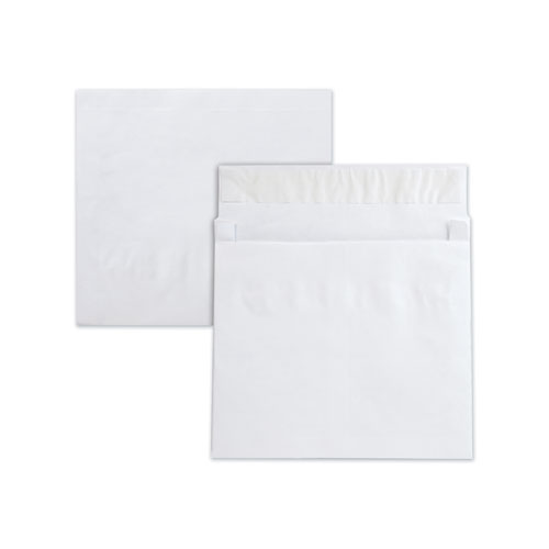 Open End Expansion Mailers, DuPont Tyvek, 13 1/2, Cheese Blade Flap, Redi-Strip Closure, 10 x 13, White, 25/Box