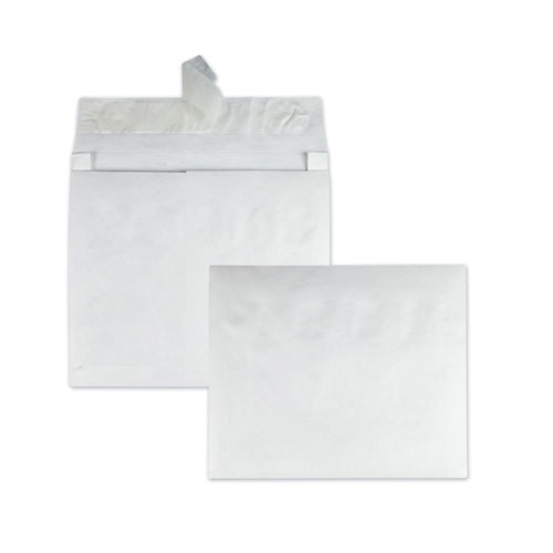 Open Side Expansion Mailers, DuPont Tyvek, 15 1/2, Commercial Flap, Redi-Strip Closure, 12 x 16, White, 100/Carton