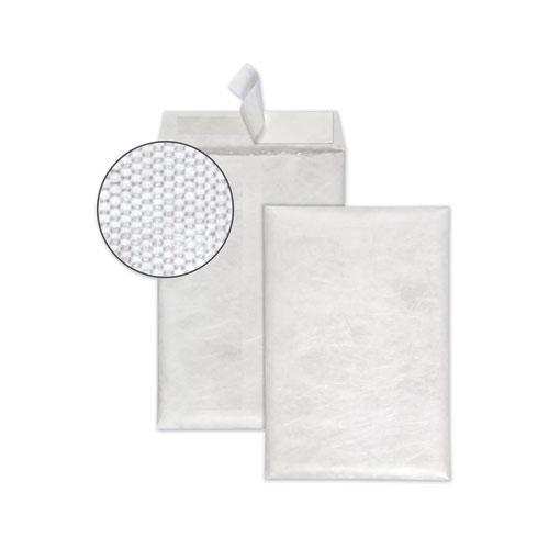 Bubble Mailer of DuPont Tyvek, 0, Air Cushion Lining, Redi-Strip Closure, 6.5 x 9.5, White, 25/Box