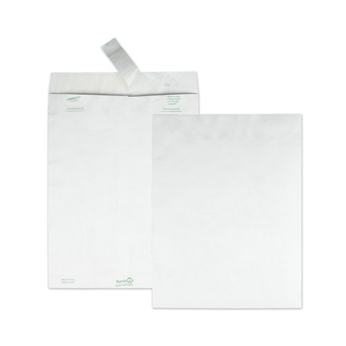 Catalog Mailers, DuPont Tyvek, 13 1/2, Cheese Blade Flap, Redi-Strip Closure, 10 x 13, White, 50/Box