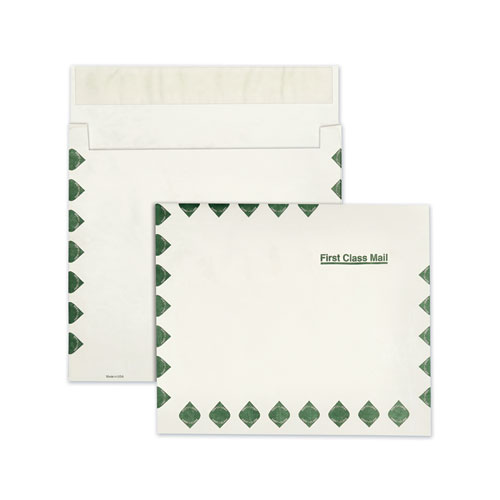 Open Side Expansion Mailers, DuPont Tyvek, 13 1/2, Cheese Blade Flap, Redi-Strip Closure, 10 x 13, White, 100/Carton
