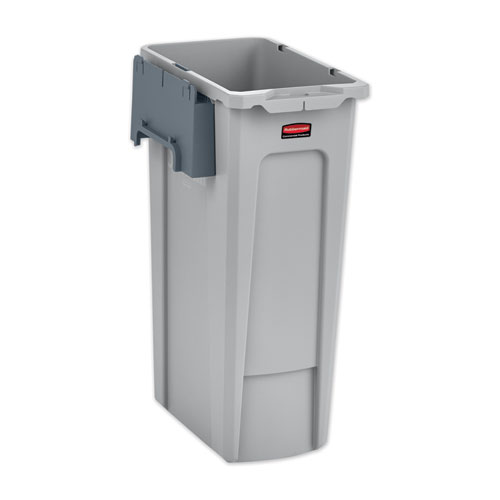 Rubbermaid® Commercial Slim Jim Recycling Station Kit, 23 gal, Gray