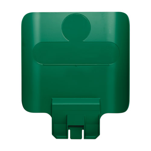 Rubbermaid® Commercial Slim Jim Recycling Station Billboard, Green