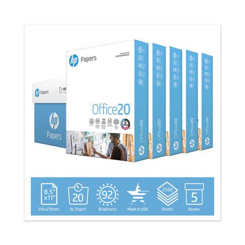 Office20 Paper, 92 Bright, 20lb, 8.5 x 11, White, 500 Sheets/Ream, 5 Reams/Carton