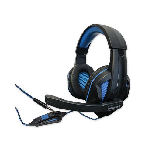 Gaming Headsets, Binaural, Over the Head, Black/Blue