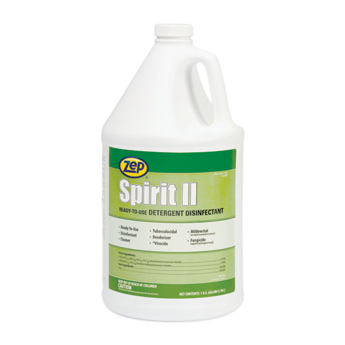 Spirit II Ready-to-Use Detergent Disinfectant, Citrus Scent, 1 gal Bottle, 4/Carton