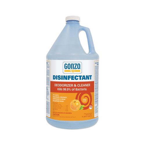 Disinfectant Deodorizer and Cleaner, Citrus Scent, 1 gal Bottle, 4/Carton