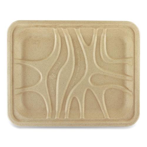 Fiber Trays, PLA Lined, PFAS Free, 9.1 x 7.1 x 0.7, Natural, 500/Carton