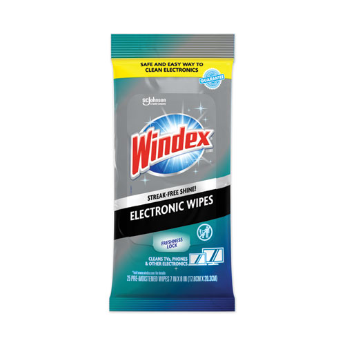 Electronics Cleaner, 25 Wipes, 12 Packs Per Carton