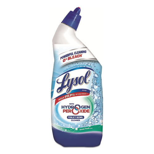 Bathroom Cleaner with Hydrogen Peroxide, Cool Spring Breeze, 24 oz Bottle, 6/Carton