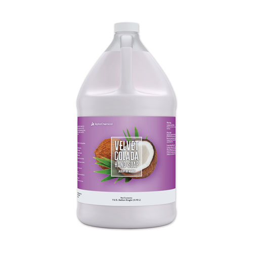 Velvet Colada Hand Soap, 1 gal Bottle, Tropical Scent, 4/Carton