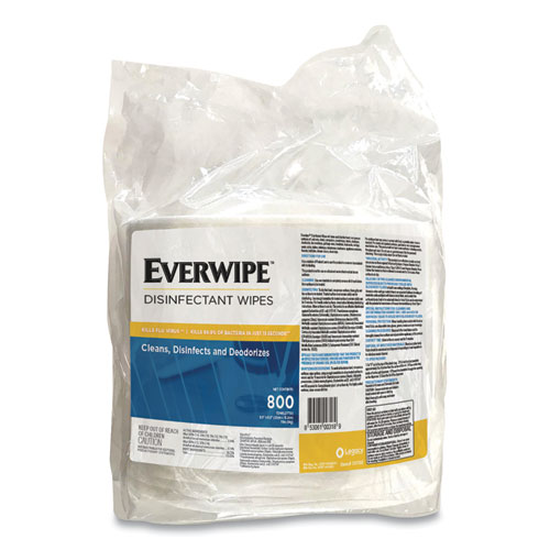 Legacy Everwipe Disinfectant Wipes, 6 x 8, 800/Bag, 4 Bags/Carton