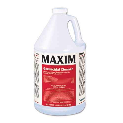 Maxim® Germicidal Cleaner, Lemon Scent, 1 gal Bottle, 4/Carton