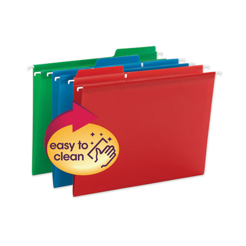 FasTab Hanging Folders, Letter Size, 1/3-Cut Tab, Assorted, 18/Box
