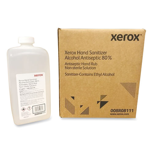 Xerox® Liquid Hand Sanitizer, 0.5 gal Bottle, Unscented, 4/Carton
