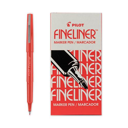 SD98B Red Ink Porous Point Pen.4mm Red//Silver Barrel Dozen PENTEL Finito