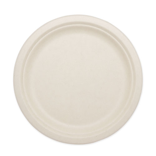 Fiber Plates, 9, Natural, 1,000/Carton