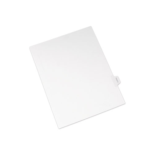Allstate-Style Legal Side Tab Dividers, Exhibit H, Letter, White, 25/Pack