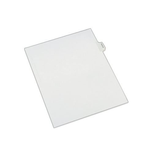 Allstate-Style Legal Side Tab Dividers, Exhibit M, Letter, White, 25/Pack