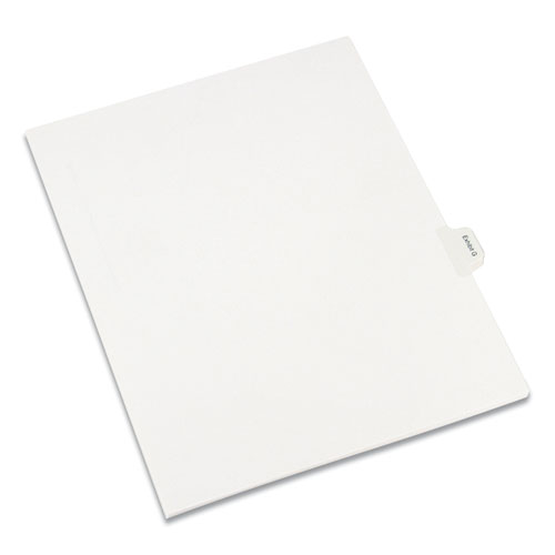 Allstate-Style Legal Side Tab Dividers, Exhibit G, Letter, White, 25/Pack