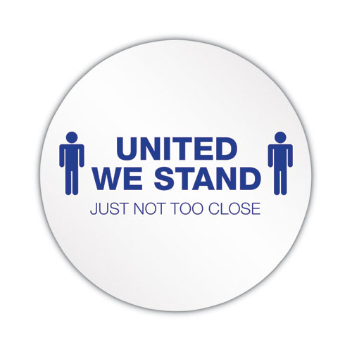 Personal Spacing Discs, United We Stand, 20 dia, White/Blue, 50/Carton