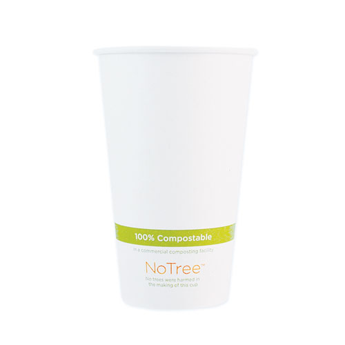 NoTree Paper Hot Cups, 16 oz, Natural, 1,000/Carton