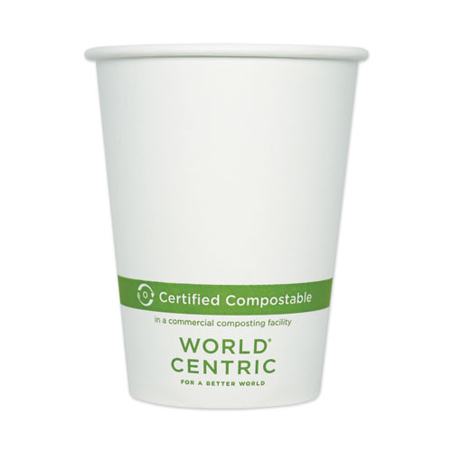 Paper Hot Cups, 12 oz, White, 1,000/Carton